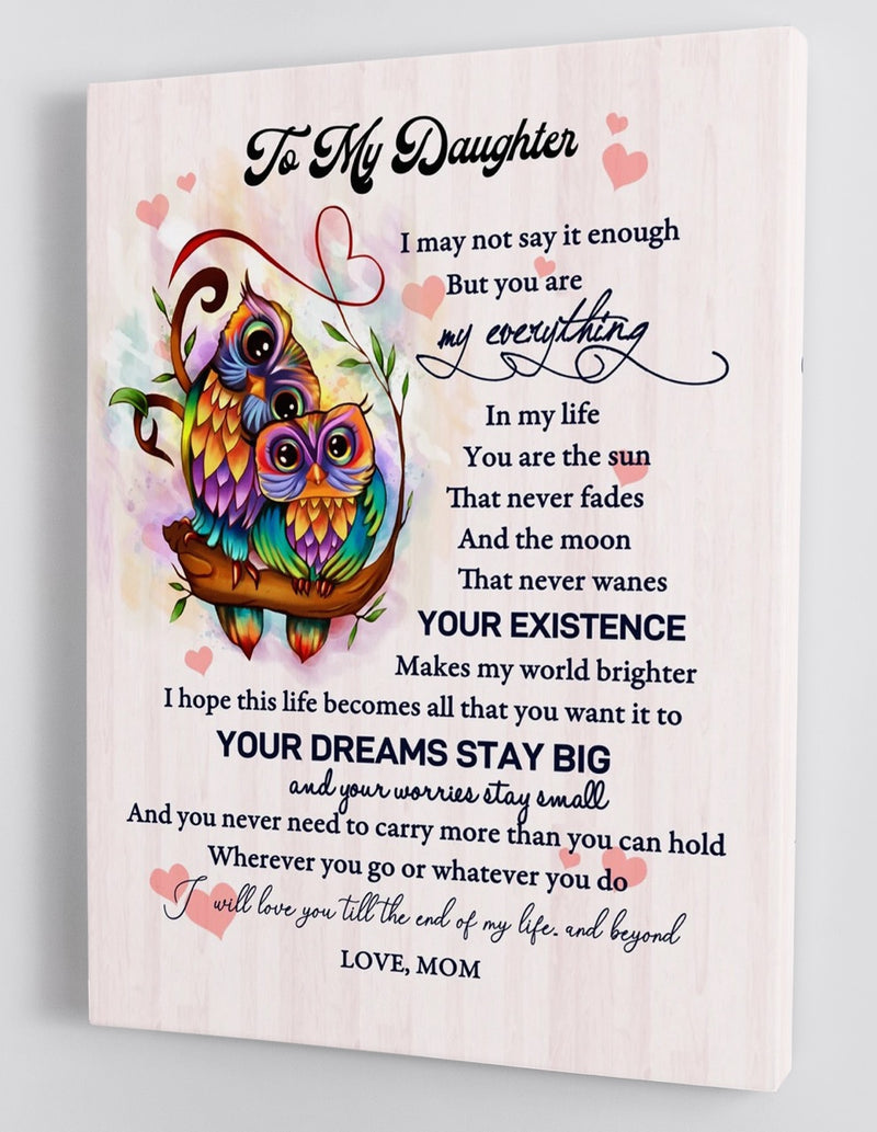 To My Daughter - From Mom - Framed Canvas Gift MD031