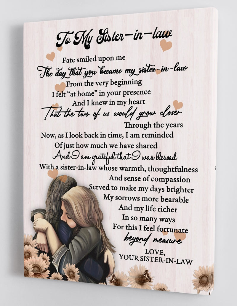 To My Sister-in-law - Love From Sister-in-law - Framed Canvas Gift SS004
