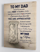 To My Dad - From Son - Father's Day Framed Canvas Gift SD001