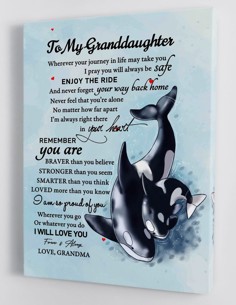 To My Granddaughter - From Grandma - Framed Canvas Gift GMD043