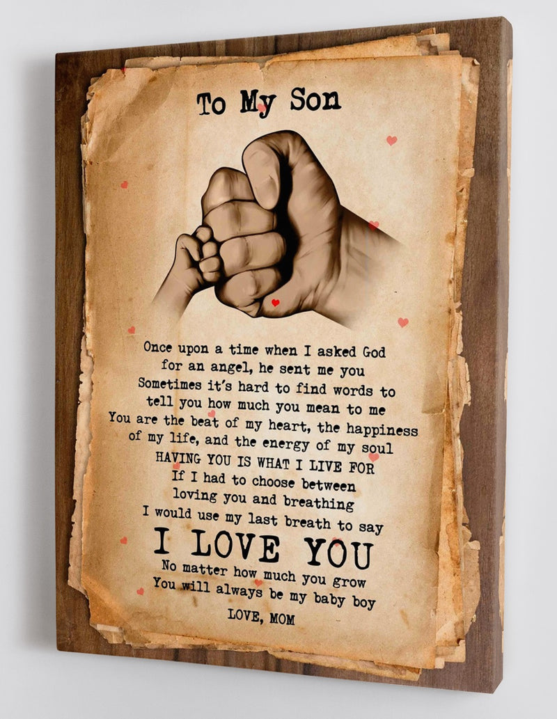 To My Son - From Mom - Framed Canvas Gift MS026