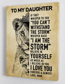 To My Daughter - From Mom - Framed Canvas Gift MD025