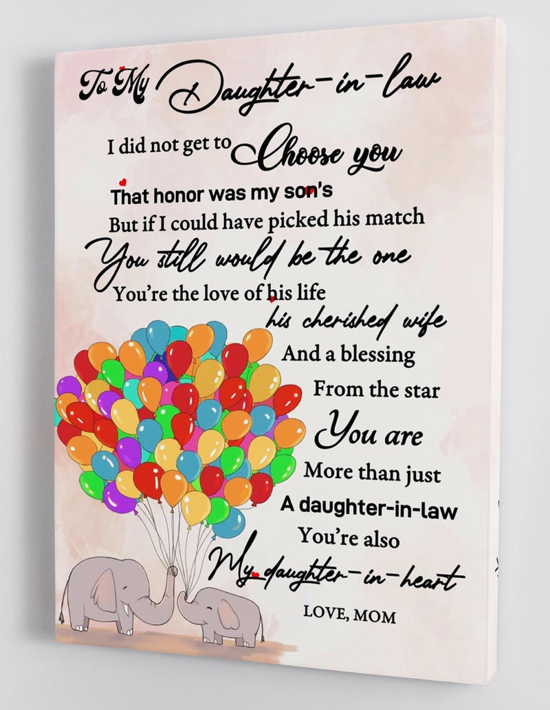 To My Daughter-in-law - From Mom - Framed Canvas Gift MD027