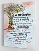 To My Daughter - From Mom - Framed Canvas Gift MD030