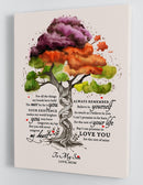 To My Son - From Mom - Colorful DNA Tree Framed Canvas Gift MS009