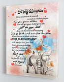 To My Daughter - From Mom - Elephant Framed Canvas Gift MD017