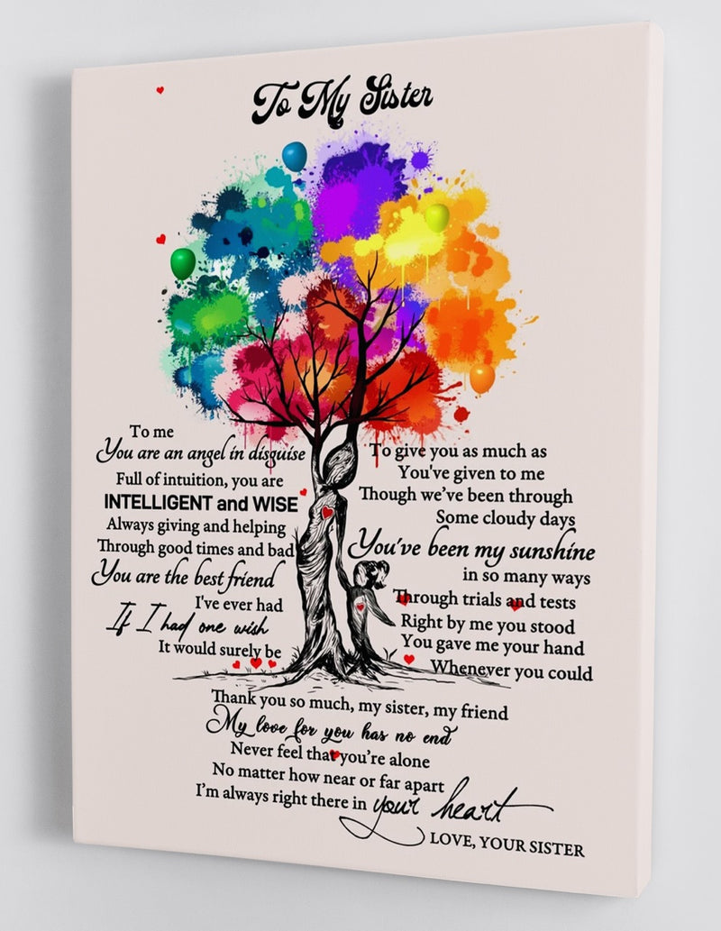 To My Sister - Love From Your Sister - Framed Canvas Gift SS003