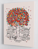 To My Grandson - From Mimi - Framed Canvas Gift GMS014