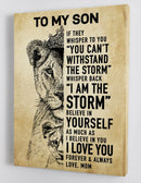 To My Son - From Mom - Framed Canvas Gift MS014