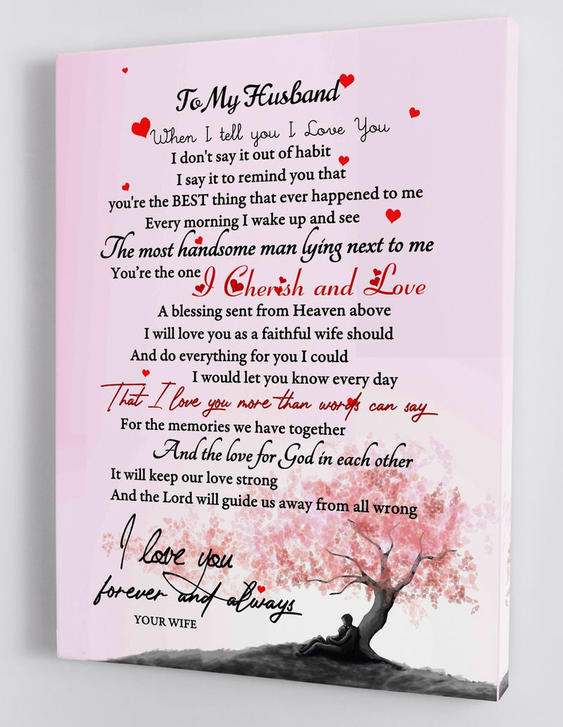 To My Husband - Love From Your Wife - Framed Canvas Gift WH002