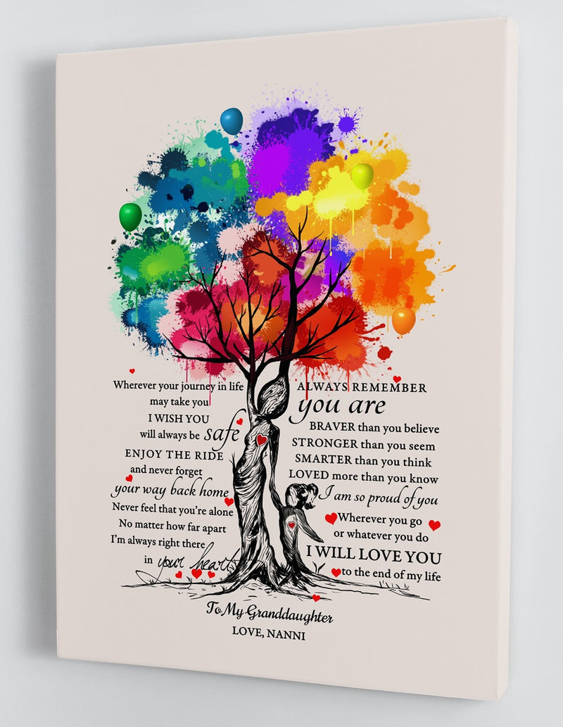 To My Granddaughter - From Nanni - Hard Time Framed Canvas Gift GMD023