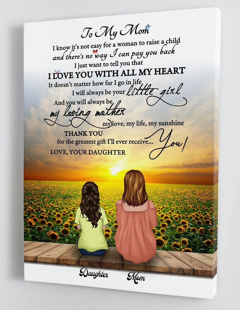Personalized Framed Canvas - To My Mom - From Daughter - Mother's Day Gift CDM01