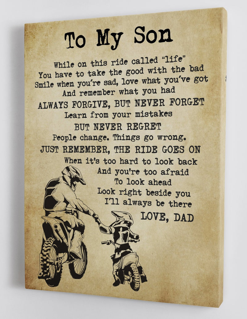 To My Son - From Dad - Canvas Gift DS005