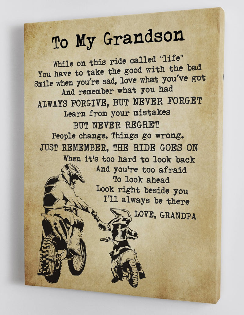 To My Grandson - From Grandpa - Canvas Gift GPS003