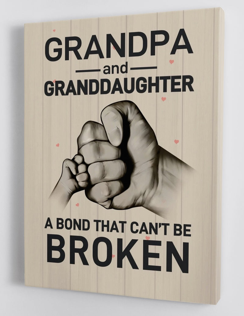 To My Granddaughter - From Grandpa - Framed Canvas Gift GPD004