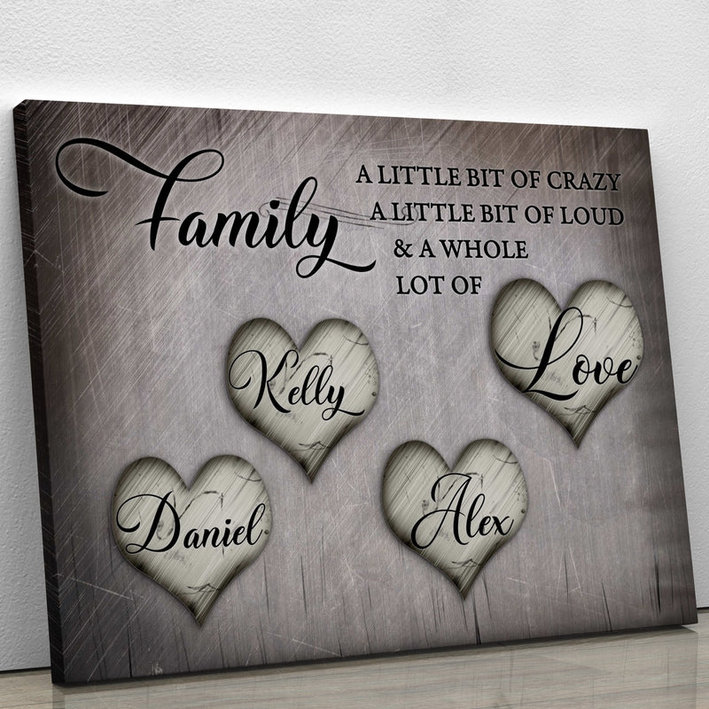 Family & Love - Personalized Canvas CT001