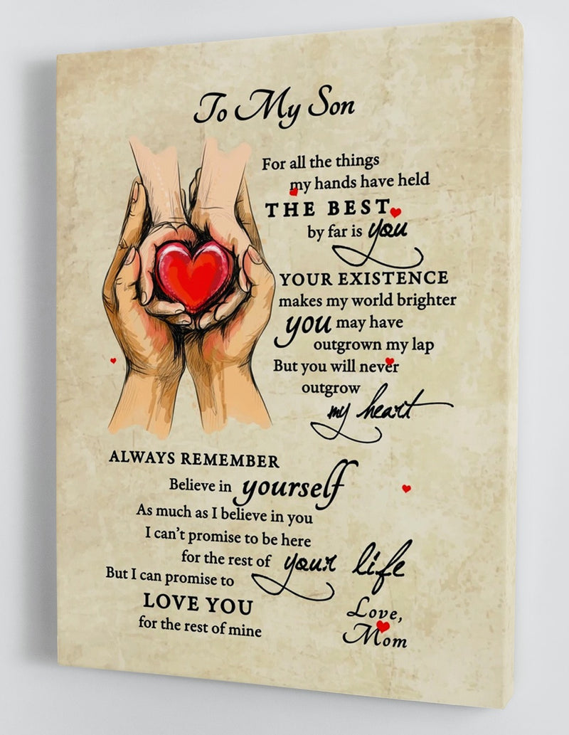 To My Son - From Mom - Framed Canvas Gift MS032