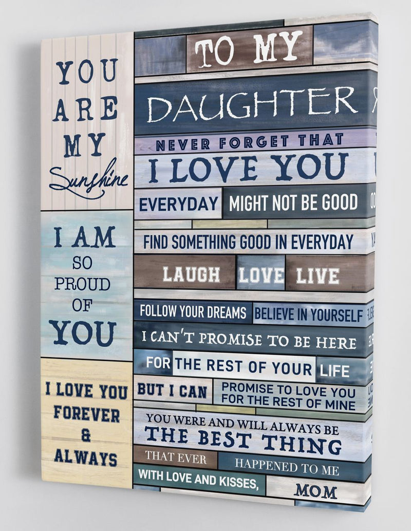 To My Daughter - From Mom - Framed Canvas Gift MD044
