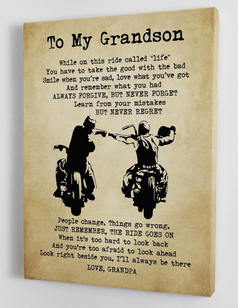 To My Grandson - From Grandpa - Canvas Gift GPS005