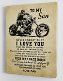 To My Son - From Dad - Canvas Gift DS007
