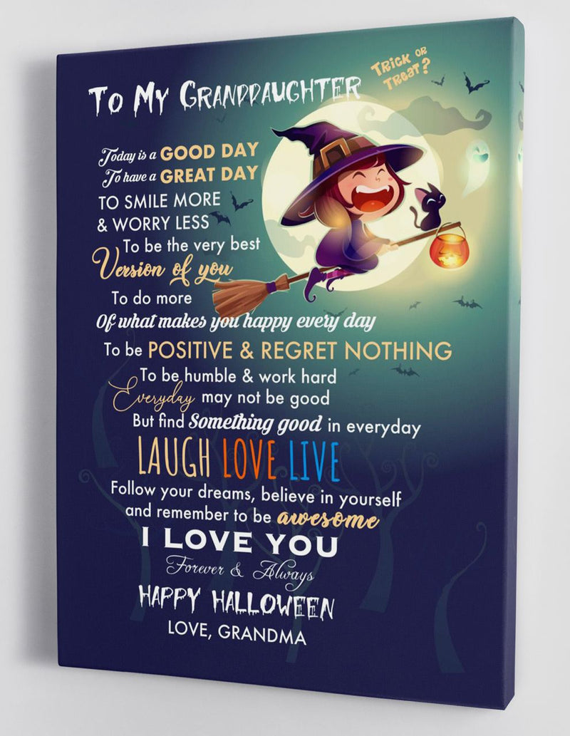 To My Granddaughter - From Grandma - Halloween Canvas Gift GMD066