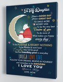 To My Daughter - From Mom - Christmas Canvas Gift MD061