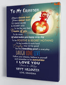 To My Grandson - From Grandma - Halloween Canvas Gift GMS056