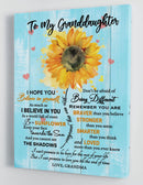 To My Granddaughter - From Grandma - Hard Time Framed Canvas Gift GMD065