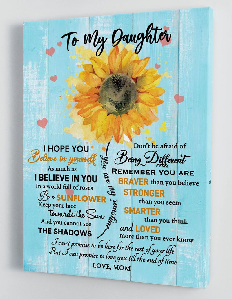 To My Daughter - From Mom - Hard Time Framed Canvas Gift MD059