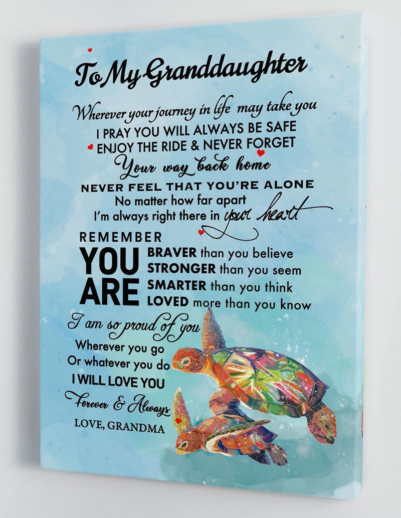 To My Granddaughter - From Grandma - Hard Time Framed Canvas Gift GMD062