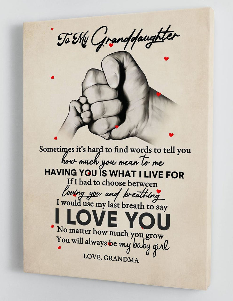 To My Granddaughter - From Grandma - Hard Time Framed Canvas Gift GMD064