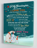To My Granddaughter - From Grandma - Christmas Canvas Gift GMD068