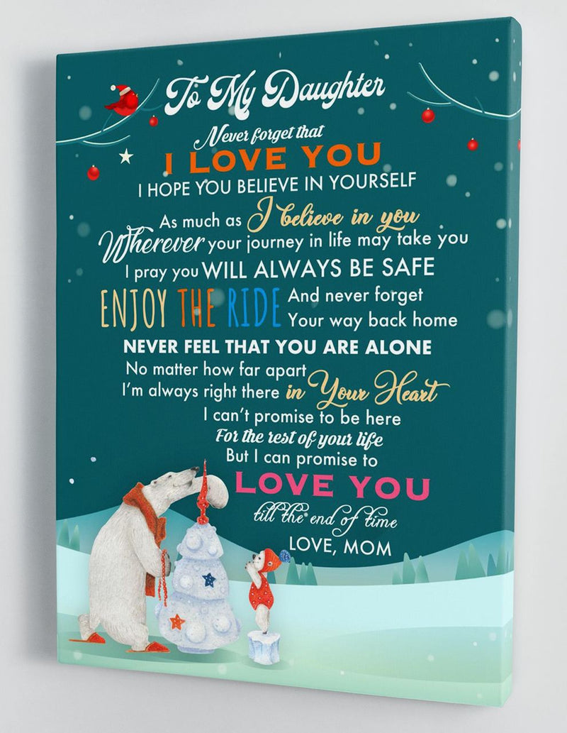 To My Daughter - From Mom - Christmas Canvas Gift MD062