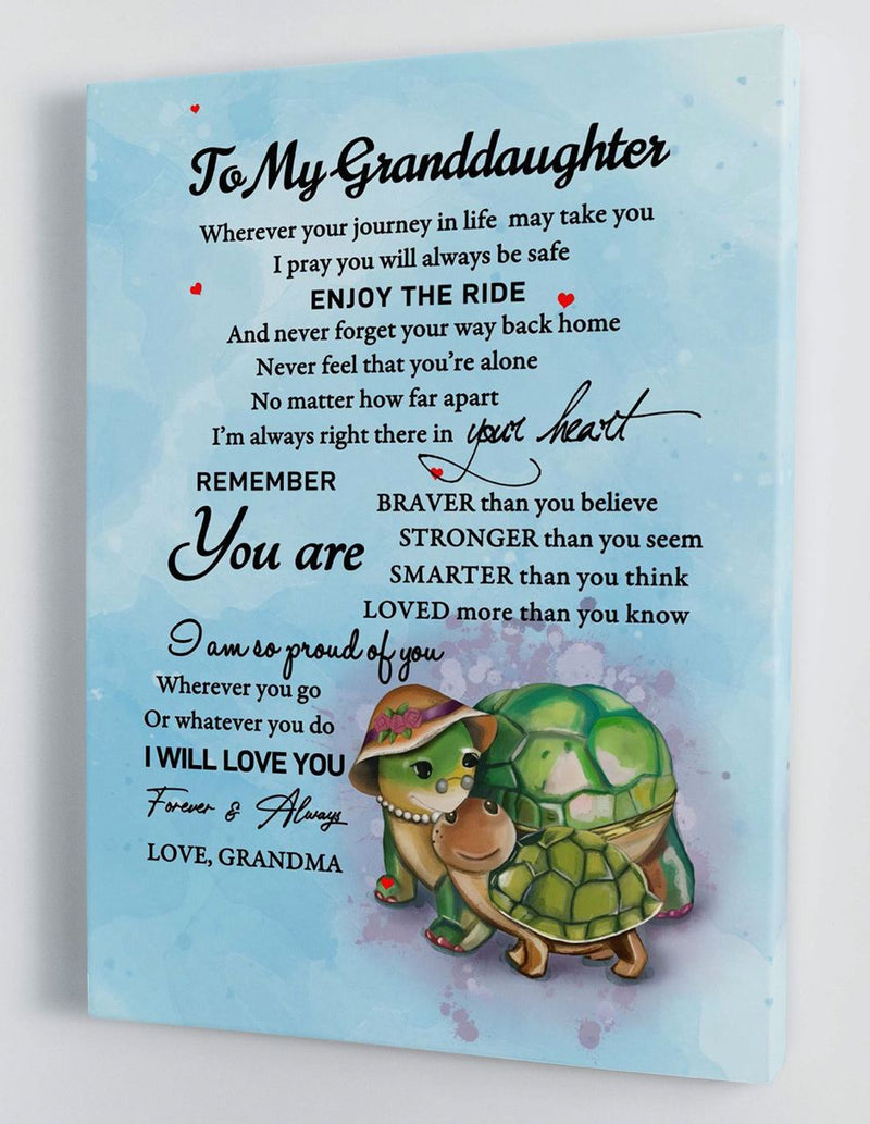 To My Granddaughter - From Grandma - Hard Time Framed Canvas Gift GMD060