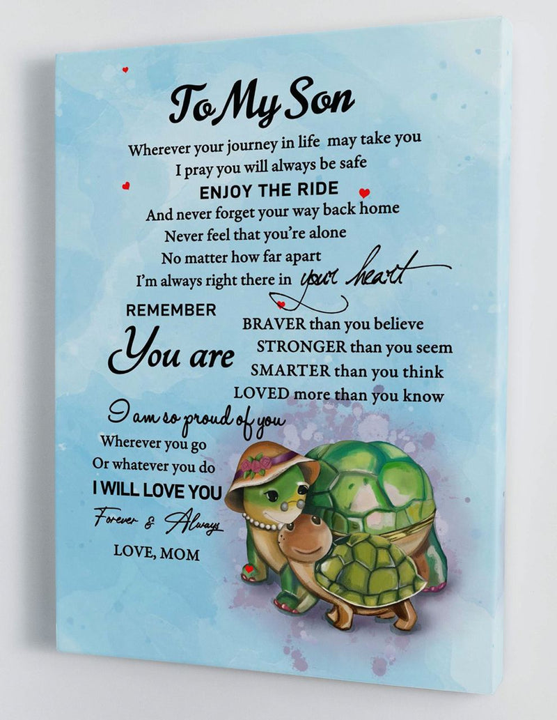 To My Son - From Mom - Hard Time Framed Canvas Gift MS046