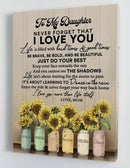 To My Daughter - From Mom - Framed Canvas Gift MD053