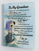 To My Grandson - From Grandma - Framed Canvas Gift GMS048