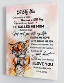 To My Son - From Mom - Framed Canvas Gift MS042