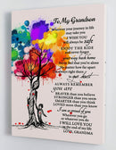 To My Grandson - From Grandma - Framed Canvas Gift GMS044