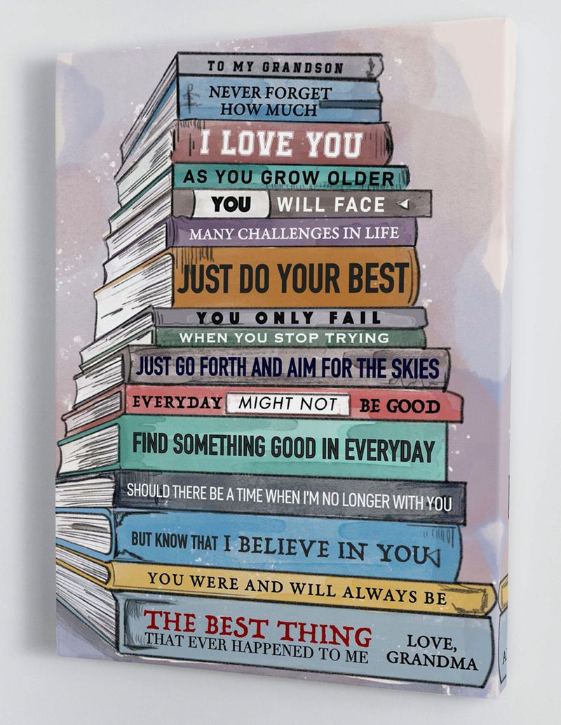 To My Grandson - From Grandma - Framed Canvas Gift GMS042