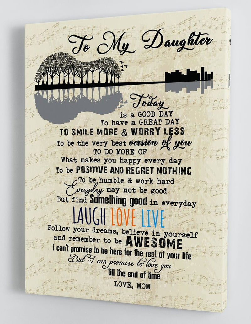 To My Daughter - From Mom - Hard Time Framed Canvas Gift MD065