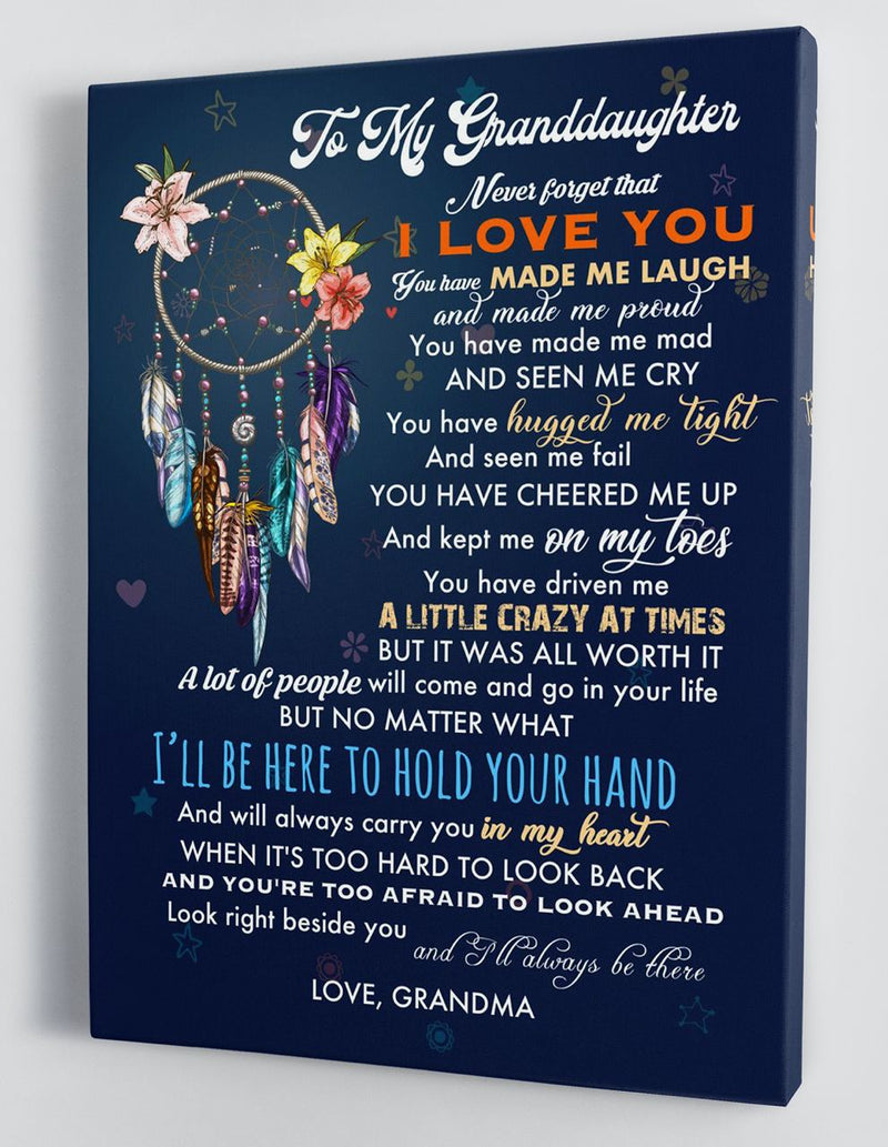To My Granddaughter - From Grandma - Hard Time Framed Canvas Gift GMD070