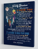 To My Grandson - From Grandma - Hard Time Framed Canvas Gift GMS060