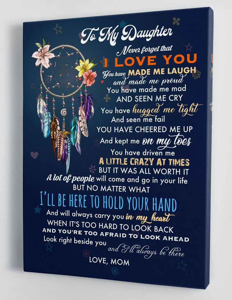 To My Daughter - From Mom - Hard Time Framed Canvas Gift MD064