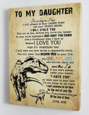 To My Daughter - From Mom - Framed Canvas Gift MD070