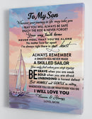 To My Son - From Mom - Framed Boat Canvas Gift MS059