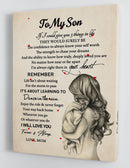To My Son - From Mom - Hard Time Framed Canvas Gift MS060