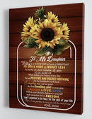 To My Daughter - From Mom - Framed Sunflower Canvas Gift MD071