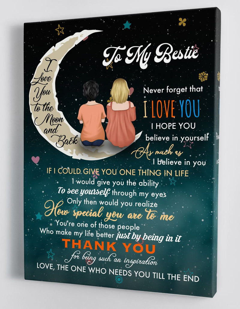 To My Bestie - Best Friends Framed Canvas Gift FF005
