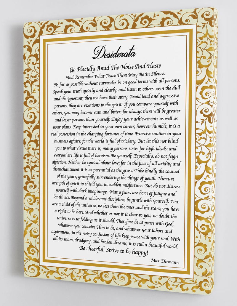 Desiderata 2 - A Life Changing Poem for Hard Times - Framed Canvas